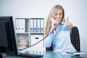 erfolgreiche geschäftliche zusage am telefon