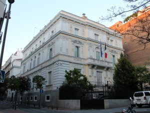French Embassy in Madrid (Spain). Building from 1879.